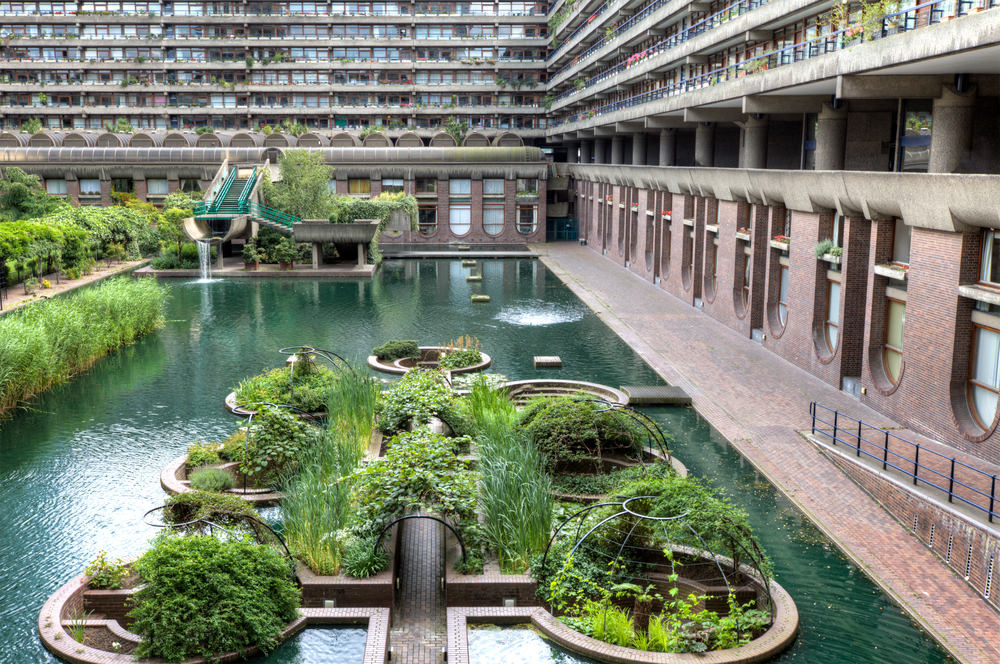 The Barbican Centre iconic new brutalist architecture