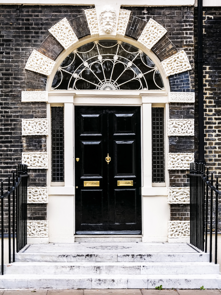 Bloomsbury door in London. England