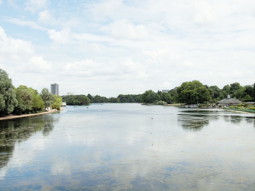 lake river in Hyde Park Kensington Gardens