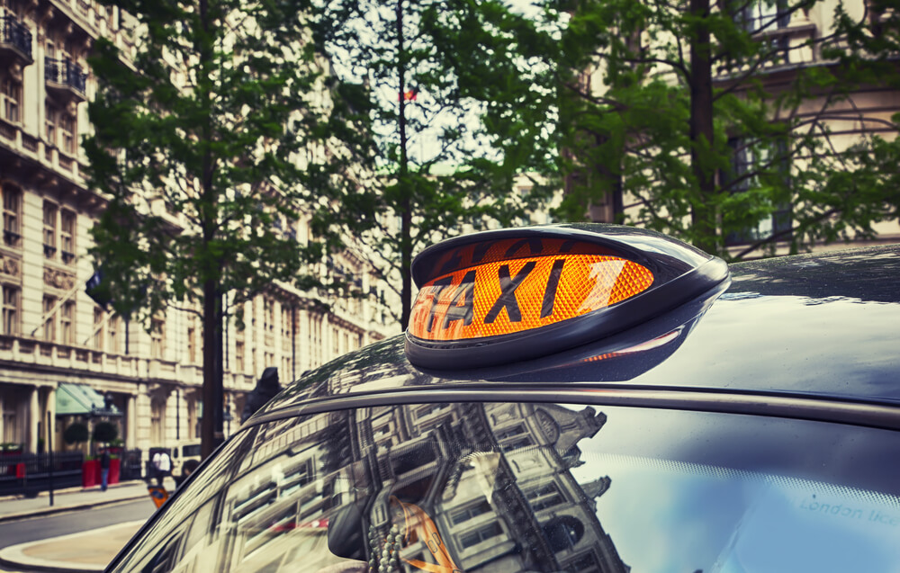taxi cab by London street