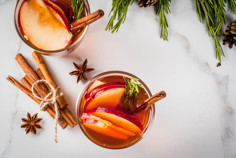winter Spicy cocktail grog