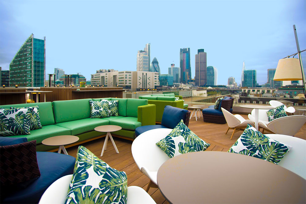 Montcalm Royal London House Aviary Rooftop Restaurant Amp Bar