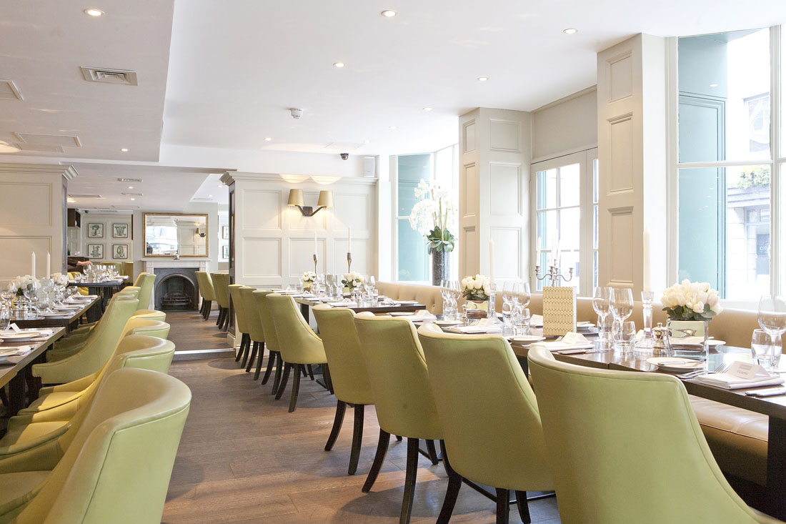 Chiswell street dining rooms at the montcalm at the for Dining room suites images