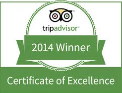 Trip Advisor Award for Excellence 2014