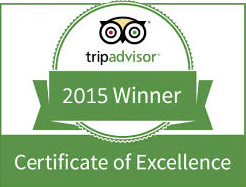 Trip Advisor Award for Excellence 2015