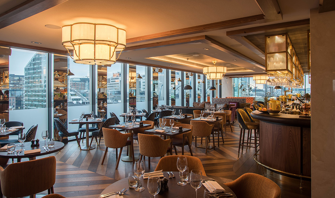 Aviary Rooftop Restaurant & Bar at The Montcalm Royal ...